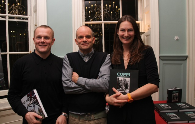 Rouleur's Bruce Sandell and Guy Andrews with Bloomsbury Head of Sport Charlotte Croft